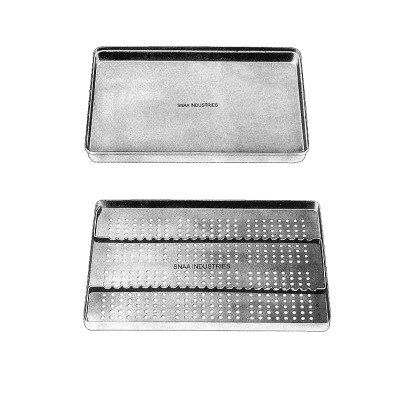 Complete Instruments Tray with Perforated Base, for 23 Instruments