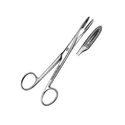 Sponge and Dressing Forceps, Without Ratchet